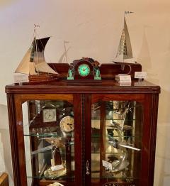 Lackner Neon Glo Lackner Neon Glo Art Deco Marbled Brown Catalin Glass Bakelite Clock - 1999388