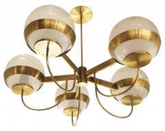 Lamperti Brass Chandelier by Lamperti Italy 1960s - 466285