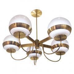 Lamperti Brass Chandelier by Lamperti Italy 1960s - 466289