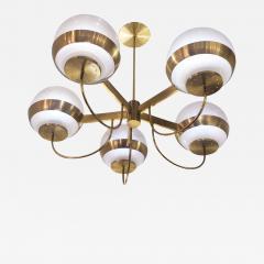 Lamperti Brass Chandelier by Lamperti Italy 1960s - 468400