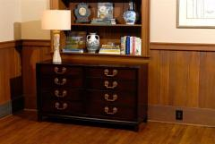 Landstrom Furniture Co Eight Drawer Chest With Greek Key Handles In  Espresso Lacquer   124361