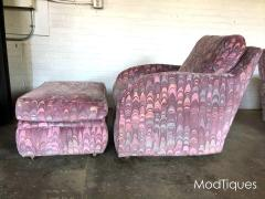 Lane Furniture Clyde Pearson Chairs and Ottomans with Jack Lenor Larsen Fabric - 1267243