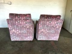Lane Furniture Clyde Pearson Chairs and Ottomans with Jack Lenor Larsen Fabric - 1267247
