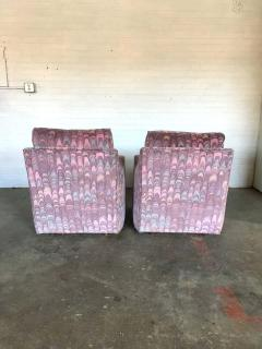 Lane Furniture Clyde Pearson Chairs and Ottomans with Jack Lenor Larsen Fabric - 1267248