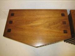 Lane Furniture Handsome Pair Of Ribbed Front Plinth Base Lane Night Stands Mid century Modern - 1862488