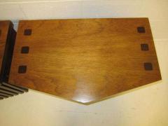 Lane Furniture Handsome Pair Of Ribbed Front Plinth Base Lane Night Stands Mid century Modern - 1862489