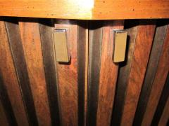 Lane Furniture Handsome Pair Of Ribbed Front Plinth Base Lane Night Stands Mid century Modern - 1862491