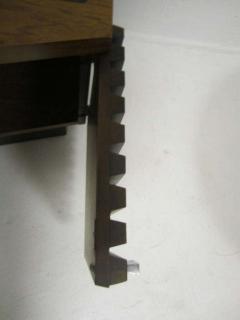 Lane Furniture Handsome Pair Of Ribbed Front Plinth Base Lane Night Stands Mid century Modern - 1862495