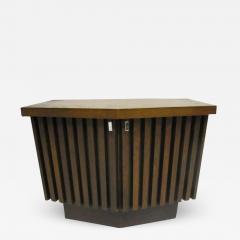 Lane Furniture Handsome Pair Of Ribbed Front Plinth Base Lane Night Stands Mid century Modern - 1864339