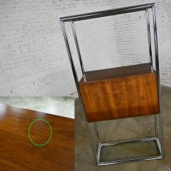 Lane Furniture MCM chrome walnut veneer entertainment display cabinet or room divider - 2066145