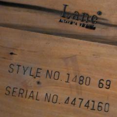 Lane Furniture MCM chrome walnut veneer entertainment display cabinet or room divider - 2066147