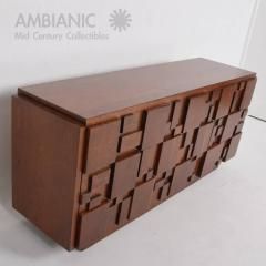 Lovely Lane Furniture Mid Century Modern Lane Brutalist Dresser In Excellent  Restored Condition   382123