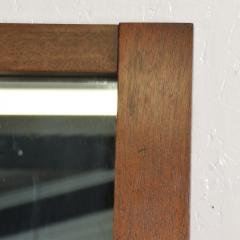 Lane Furniture Mid Century Modernist Brutalist Walnut Mirror by LANE - 885212