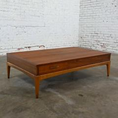Lane Furniture Mid century modern lane rhythm collection walnut rectangular coffee table - 2130329