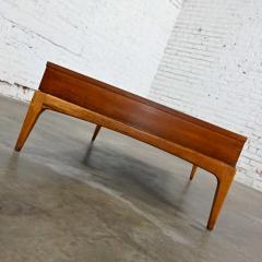 Lane Furniture Mid century modern lane rhythm collection walnut rectangular coffee table - 2130330