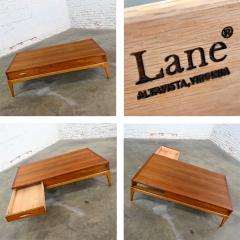 Lane Furniture Mid century modern lane rhythm collection walnut rectangular coffee table - 2130332