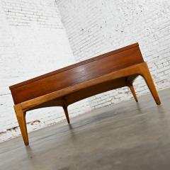 Lane Furniture Mid century modern lane rhythm collection walnut rectangular coffee table - 2130333