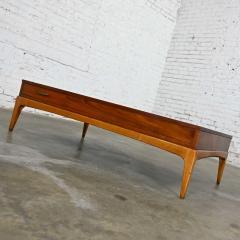 Lane Furniture Mid century modern lane rhythm collection walnut rectangular coffee table - 2130353