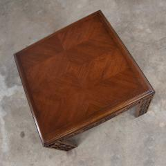 Lane Furniture Modern square lane end or side table with carved leg design chevron veneer top - 1780945