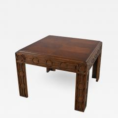 Lane Furniture Modern square lane end or side table with carved leg design chevron veneer top - 1785397