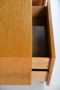 Lane Furniture Pair of Minimalist Burl Wood Nightstands by Lane - 1111737