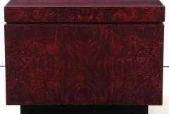 Lane Furniture Roland Carter Red Wine Stained Burl Nightstands - 1830593