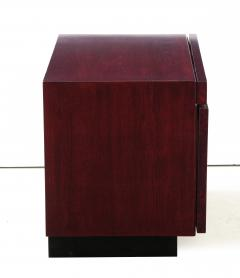 Lane Furniture Roland Carter Red Wine Stained Burl Nightstands - 1830596