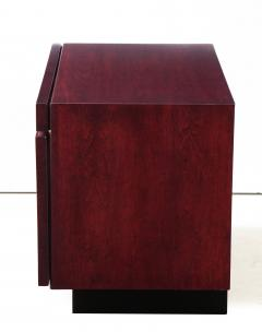 Lane Furniture Roland Carter Red Wine Stained Burl Nightstands - 1830597