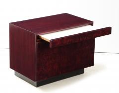 Lane Furniture Roland Carter Red Wine Stained Burl Nightstands - 1830598