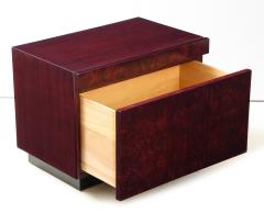Lane Furniture Roland Carter Red Wine Stained Burl Nightstands - 1830601