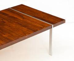Lane Furniture Rosewood and chrome coffee table by Lane - 929973