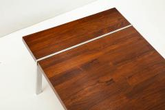 Lane Furniture Rosewood and chrome coffee table by Lane - 929979