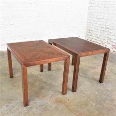 Lane Furniture Vintage modern lane parsons style 1124 5 walnut end or side tables - 1588644