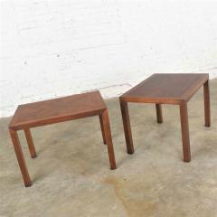 Lane Furniture Vintage modern lane parsons style 1124 5 walnut end or side tables - 1588645