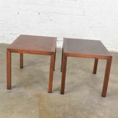 Lane Furniture Vintage modern lane parsons style 1124 5 walnut end or side tables - 1588646
