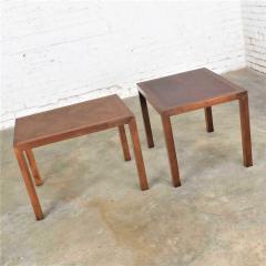 Lane Furniture Vintage modern lane parsons style 1124 5 walnut end or side tables - 1588686