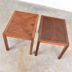 Lane Furniture Vintage modern lane parsons style 1124 5 walnut end or side tables - 1588688