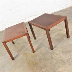 Lane Furniture Vintage modern lane parsons style 1124 5 walnut end or side tables - 1588691