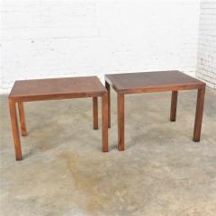 Lane Furniture Vintage modern lane parsons style 1124 5 walnut end or side tables - 1588692