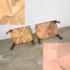 Lane Furniture Vintage modern lane parsons style 1124 5 walnut end or side tables - 1588693