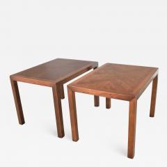 Lane Furniture Vintage modern lane parsons style 1124 5 walnut end or side tables - 1590118