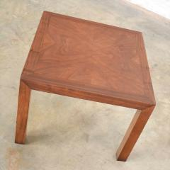 Lane Furniture Vintage modern lane solid walnut square parsons table w inlay style 1124 18 - 1588601