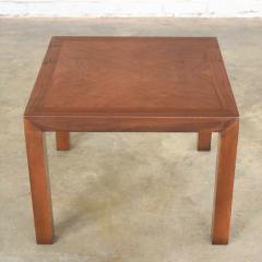 Lane Furniture Vintage modern lane solid walnut square parsons table w inlay style 1124 18 - 1588602