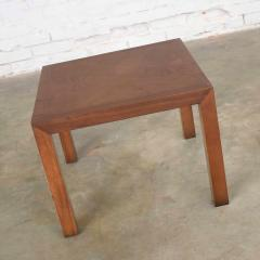 Lane Furniture Vintage modern lane solid walnut square parsons table w inlay style 1124 18 - 1588603