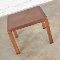 Lane Furniture Vintage modern lane solid walnut square parsons table w inlay style 1124 18 - 1588606
