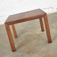Lane Furniture Vintage modern lane solid walnut square parsons table w inlay style 1124 18 - 1588649