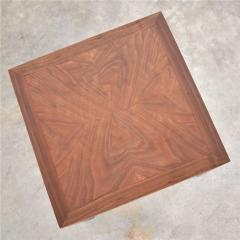 Lane Furniture Vintage modern lane solid walnut square parsons table w inlay style 1124 18 - 1588650
