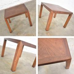 Lane Furniture Vintage modern lane solid walnut square parsons table w inlay style 1124 18 - 1588695