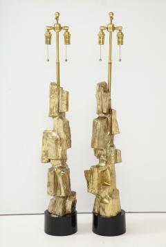 Laurel Lamp Company Pair Brutalist Lamps by Maurizio Tempestini  - 1154951