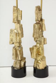 Laurel Lamp Company Pair Brutalist Lamps by Maurizio Tempestini  - 1154952